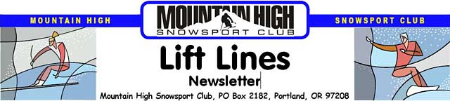 Lift Lines Logo - Mt. High ski club, Portland, Oregon