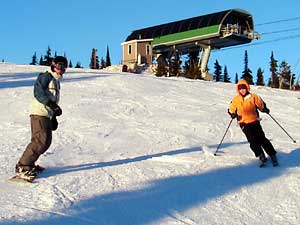 Mike Henness and Diane Zhitlovsky at Big White, Canada.