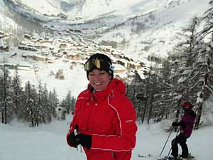 Christy in Val d'Isere, France.