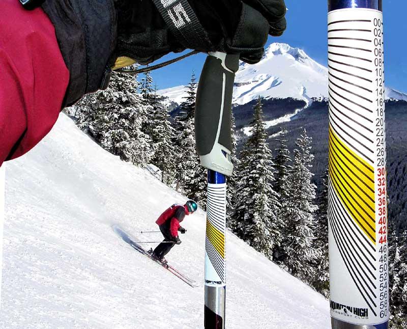 Ski pole inclinometers -- Mountain High Snowsport Club